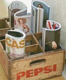 Old crate/magazine holder