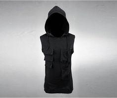 Side Pocket Hood Sleveless
