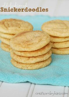 Recipe for snickerdoodles, a family favorite cookie!