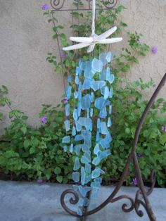SEA GLASS Wind Chime beach decor #Unbranded
