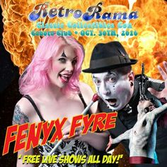 FREE Thrillshow spectacular FENYX FYRE  - coming to Windsor's RetroRama Classic Collectibles Con Oct. 30/2016! www.Facebook.com/RetroRamaWindsor Ronald Mcdonald House, Oct 30, Special Guest, Windsor, Facebook, Children, Classic, Fun, Movie Posters