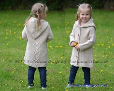 Knitting Pattern - Hearts Queen Coat (Toddler, Child and Teen sizes)