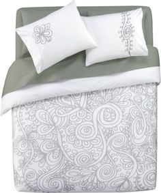 grey vines bed linens in bed linens, bath linens | CB2