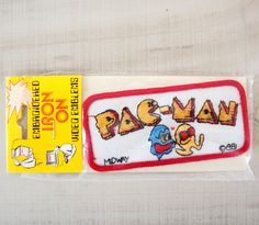 NOS Vintage Pac-Man Patch 1981 Embroidered Iron On Sew On 80's Video Game Arcade #Midway