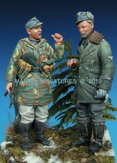 German officer and General in 1/35 scale resin. Now in stock!