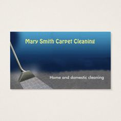 carpet cleaning business card - Flooring Business Cards