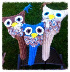 Blue owl golf club head covers set of 3 on Etsy, $25.00