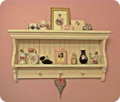 Bathroom shelf & vintage pretties
