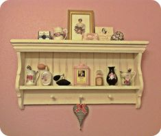 Bathroom shelf & vintage pretties