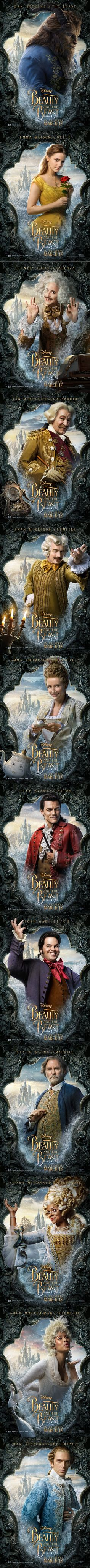 New 'Beauty and the Beast' character posters! I wouldn't be surprised if Disney figures out a way to make a sequel. Walt Disney, Disney Pixar, Bella Disney, Disney Dream, Disney And Dreamworks, Disney Animation, Disney Love, Disney Magic, Emma Watson