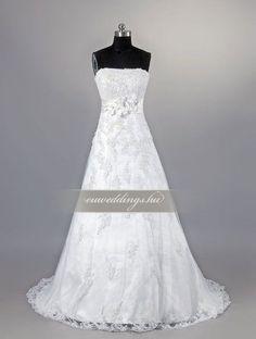Menyasszonyi ruha A vonalú ujjatlan-AVU-1979 1 One Shoulder Wedding Dress, Wedding Dresses, Fashion, Bride Dresses, Moda, Bridal Gowns, Fashion Styles, Weeding Dresses, Wedding Dressses