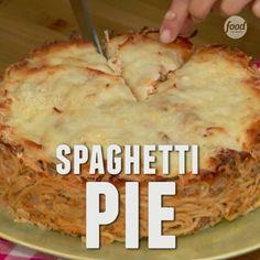 Make pasta tonight, turn the leftovers into Spaghetti Pie tomorrow! [recipe link in bio]