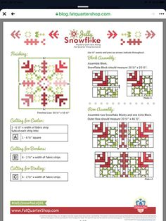 Christmas Quilting Projects, Christmas Quilt Patterns, Christmas Sewing, Jellyroll Quilts, Easy Quilts, Quilt Block Patterns, Pattern Blocks, Snowflake Quilt, Snowflakes