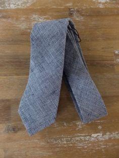 auth BRUNELLO CUCINELLI gray 100% linen tie - NWOT
