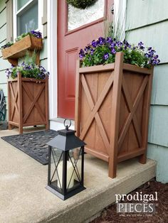 How to build your own tall outdoor planter boxes planters people diy planter for curb appeal and garden design workwithnaturefo