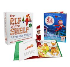"""Elf on the Shelf : A Christmas Tradition Blue Eyed Boy Elf Plus Bonus Official """"An Elf's Story - Chippey's Great Adventure"""" Easy to Read Storybook >>> Review more details @"""