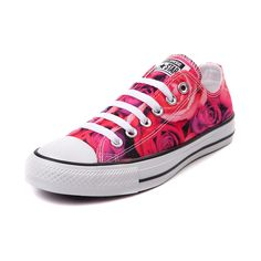 Converse All Star Lo Roses Sneaker in pink roses $54.99