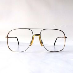 Authentic Vintage Thick Plastic Aviator Glasses - Tortoise ...