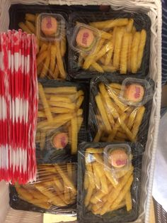 Chips patat met een servetje