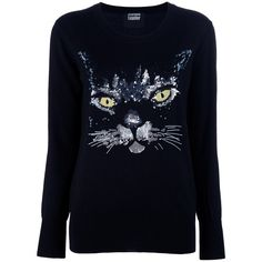 MARKUS LUPFER Cat Sequin Sweater found on Polyvore