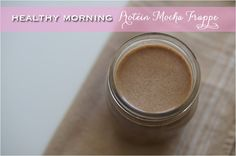 Today I'm sharing a new protein shake recipe. I'm really excited about it because it involves coffee and I looooove coffee! I've tried putting coffe… Morning Protein Shake, Iced Coffee Protein Shake Recipe, Healthy Protein Shakes, Protein Shake Recipes, Healthy Smoothies, Healthy Drinks, Smoothie Recipes, Vitamix Recipes, Blender Recipes