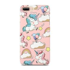 Cute Cartoon Unicorn Phone Case For iPhone 5s 6 7 8 Plus Case Smooth Touch Hard PC Capa Cover For iPhone X Funda Coque
