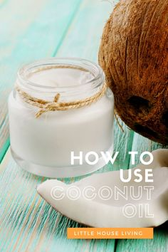 Are you utilizing that jar of coconut oil to its full potential? I bet you didn't know that you didn't know all of these ways how to use coconut oil! Coconut Oil Deodorant, Liquid Coconut Oil, Homemade Coconut Oil, Homemade Deodorant, Coconut Oil Uses, Homemade Shaving Cream, Little House Living, Spa Day At Home, Recipe Link