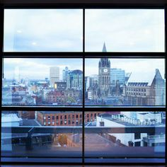 The view from our Radisson Blu Edwardian Manchester Hotel