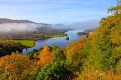 Beautiful Autumn Colours at Queen's View, Tummel Valley, Pitlochry, Scotland.