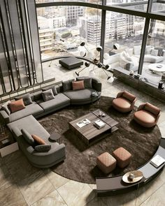 How about a living room like this one? Living Room Sofa Design, Cozy Living Rooms, Home Living Room, Living Room Designs, Home Luxury, Luxury Living, Luxury Interior, Interior Design Examples, Interior Design Inspiration