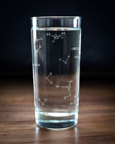 • • • • • Gift Option • • • • • Add A Gift Bag for $5.95 Each Chemistry of Water Glass is carefully crafted to ensure your water retains all its essential oxygen with twice as much hydrogen. At last –