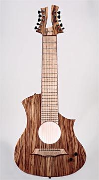 Another view of the same guitar.