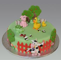 pinterest decorated cake farm animal | Animal Farm Cake | Flickr - Photo Sharing!
