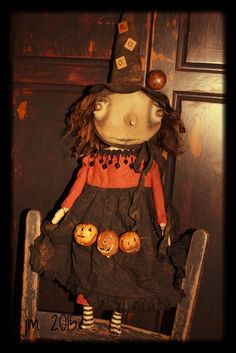 Primitive Witch by YankeeRidgePrimitive on Etsy https://www.etsy.com/listing/240600367/primitive-witch