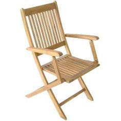 Royal Craft Acacia Manhattan Folding Armchair