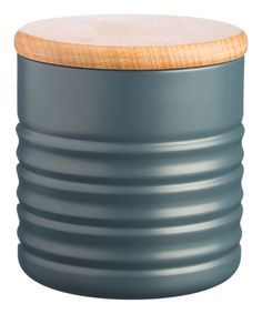Slate Ripple Canister on #zulily