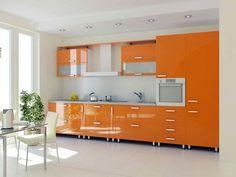 Оранжевая кухняВы устали, вас мучает депрессия и нет аппетита, у вас нет настроения и желания что-либо делать? Вы хотите это ИЗМЕНИТЬ? Сделайте у себя дома оранжевую кухню или как минимум привнесите в интерьер оранжевые элементы, будь-то ваза с апельсинами или оранжевое кресло посреди комнаты.