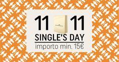 Il Single's Day nasce in #Cina per la somiglianza dei numeri 11|11 con degli omini e si trasforma in una folle giornata di shopping online! #SinglesDay Solo per oggi importo minimo di 15€ su tutti gli ordini! #Crazy #ecommerce #Double11 #ConsegnaAdomicilio #intuttaMilanoeOltre #SelectedFoodDelivery #TopQualityOnly #BestRestaurantsinMilan #BacchetteForchette #BacchetteForchetteMilano #Milano