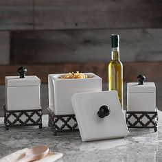 Kingston Square Canisters and Trays, Set of 6