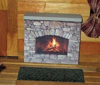 Dollhouse Decorating!: Make your own homemade dollhouse fireplace