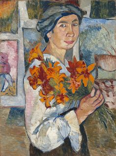Natalia Goncharova (Russian, 1881-1962) Self-Portrait, 1907