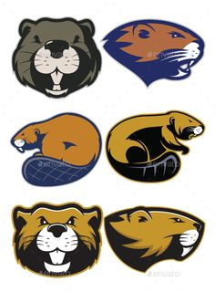 Buy Beaver Mascot Logo by sundatoon on GraphicRiver. Clipart picture of beaver cartoon mascot logo character. Fully customizable in AI and EPS, Also available in JPG and .