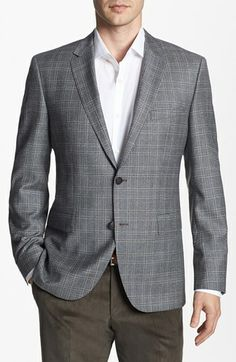 BOSS HUGO BOSS 'The Smith' Trim Fit Plaid Sportcoat available at #Nordstrom