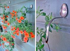 Creative Ideas - DIY Spoon Planter Hooks | iCreativeIdeas.com Follow Us on Facebook --> https://www.facebook.com/iCreativeIdeas