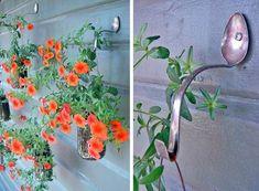 Creative Ideas - DIY Spoon Planter Hooks | iCreativeIdeas.com Follow Us on Facebook --> https://www.facebook.com/iCreativeIdeas