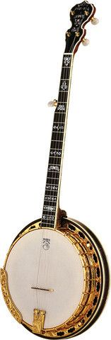 View our other walnut banjos here: Order a Deering Ivanhoe and get the banjo of your dreams. The Ivanhoe is a beautiful gold plated & engraved slender and fast playing banjo with a quick response that