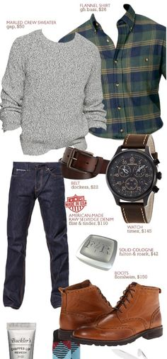 """The Getup: The Season of Harvest & Thanks - Primer [always clean and """"safe"""" style] - big and tall mens clothing, cheap mens clothing store, mens fall clothing Mode Masculine, Sharp Dressed Man, Well Dressed Men, Look Fashion, Winter Fashion, Fashion Check, Fashion Sale, Fashion Kids, Sport Fashion"""