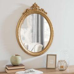 Miroir oval doré 46x62cm ANASTACIA