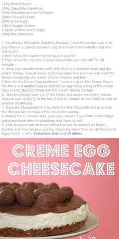 Creme Egg Cheesecake