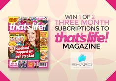 Enter to win: Win 1 of 2 magazine subscriptions. | http://www.dango.co.nz/s.php?u=LuzrmCM32692